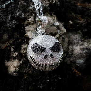 Iced Out Jack The Pumpkin King Necklace